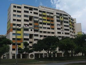 HDB flats in Hougang, Singapore.