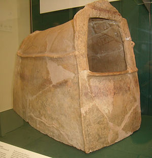 Ghassulian - Ghassulian ossuary, ca. 3500 BC, Palestine (at the British Museum)