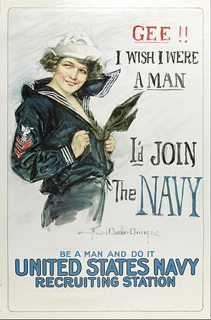 Howard Chandler Christy - Image: Howard Chandler Christy Gee I wish I were a Man, I'd Join the Navy Google Art Project