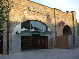 Hoxton station west entrance April2010.JPG