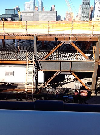 The Shed (Hudson Yards) - The platform supporting the Shed under construction in September 2014