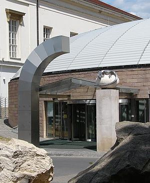 Hungarian Natural History Museum - The main entrance to the exhibitions on Ludovika Square