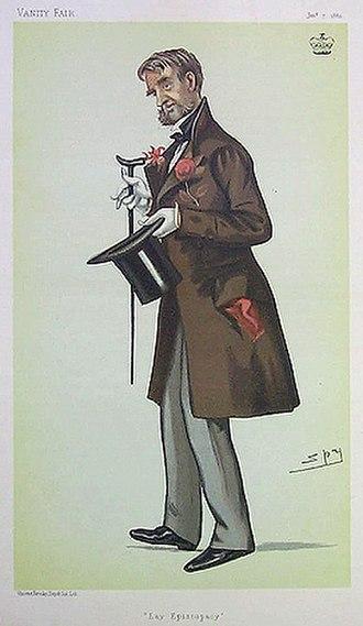 Nantwich Grammar School - Vanity Fair caricature of Hungerford Crewe, a school benefactor