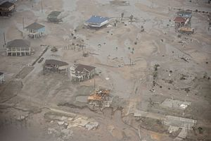 Effects of Hurricane Ike in Texas - Bolivar Point - September 13, 2008