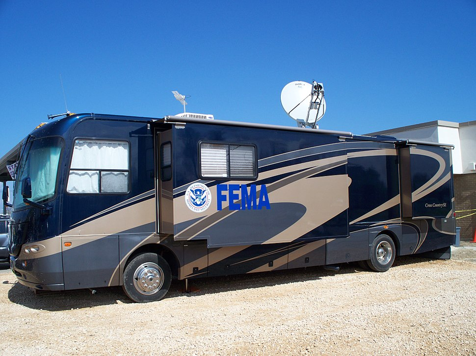 Hurricane Ike Sabine Pass TX FEMA motorhome
