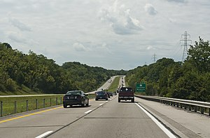 Interstate 71 - Interstate 71 in the hills of Kentucky