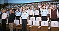 "IAF officials and Air Veterans observe a moment's silence in respect of the martyrs of 1965 India-Pakistan war during the seminar on ""Role on IAF in 1965 India-Pakistan war"", in New Delhi on September 05, 2014.jpg"