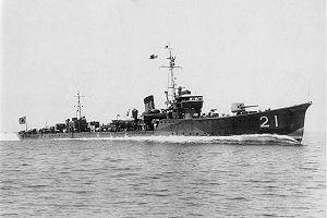 Chidori-class torpedo boat - Image: IJN torpedo boat CHIDORI in 1934