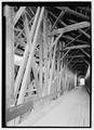 INTERIOR. - Blenheim Bridge, Spanning Schoharie Creek, River Road (now bypassed), North Blenheim, Schoharie County, NY HAER NY-331-9.tif