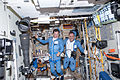 ISS-35 Roman Romanenko and Pavel Vinogradov prior to the space walk.jpg