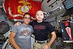 ISS-53 Joseph Acaba and Randy Bresnik celebrate the 242nd Birthday of the Marine Corps.jpg