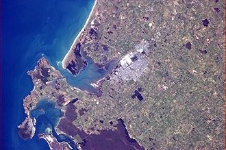 Invercargill - Invercargill pictured from the International Space Station