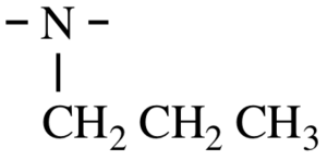 IUPAC polymer nomenclature - IUPAC propylimino divalent group