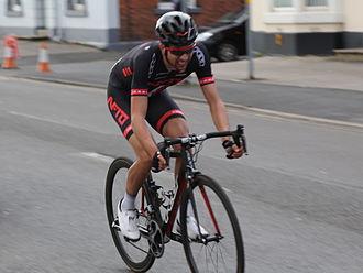 NFTO (cycling team) - Ian Bibby, shortly before winning the Chorley Grand Prix on 4 April 2015