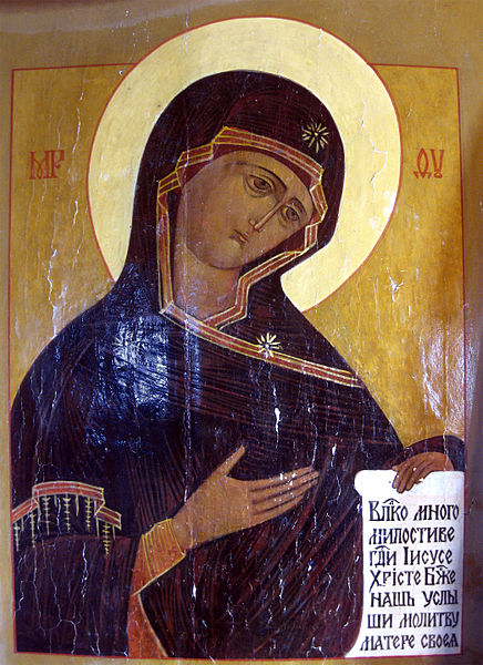 File:Icon of Madonna with prayer (Dormition Church at Kondopoga).jpg