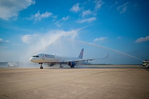 Raleigh–Durham International Airport - The Inaugural Flight of Delta Air Lines' service from Raleigh-Durham to Paris