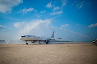 Raleigh–Durham International Airport - The Inaugural Flight of Delta Air Lines' service from Raleigh–Durham to Paris