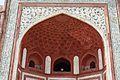 Incised Ceiling Painting and Spandrel - Main Gateway - Taj Mahal Complex - Agra 2014-05-14 3755.JPG
