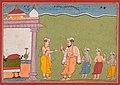 "India, Rajasthan, Bikaner, 17th century - ""Vasudeva Meets Nanda"" from a Bhagavata Purana - 2013.365 - Cleveland Museum of Art.jpg"