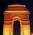 India Gate Brilliantly lit up.JPG