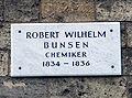 Informationsschild (Robert Wilhelm Bunsen).JPG