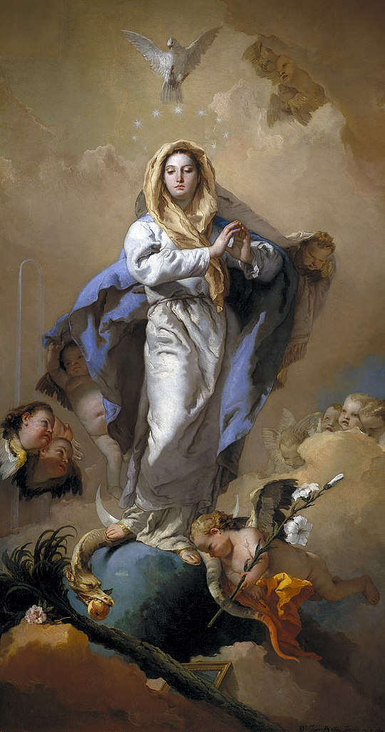 The Immaculate Conception by Giovanni Battista Tiepolo, 1767-1769, in the Museo del Prado, Spain Inmaculada Concepcion (Tiepolo).jpg