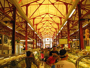 Findlay Market - Image: Inside findlay market