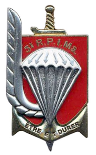 3rd Marine Infantry Parachute Regiment - Regimental insigne