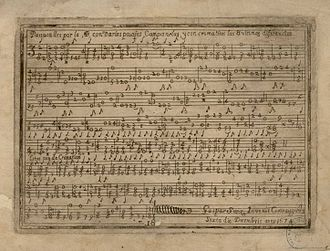 Gaspar Sanz - An example of tablature from Instrucción de música sobre la Guitarra Española