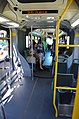 Interior of C-Tran Vine bus towards front from rear section, with bike racks.jpg