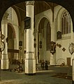 Interior of the Oude Kerk in Delft by Hendrick van Vliet Mauritshuis 203.jpg
