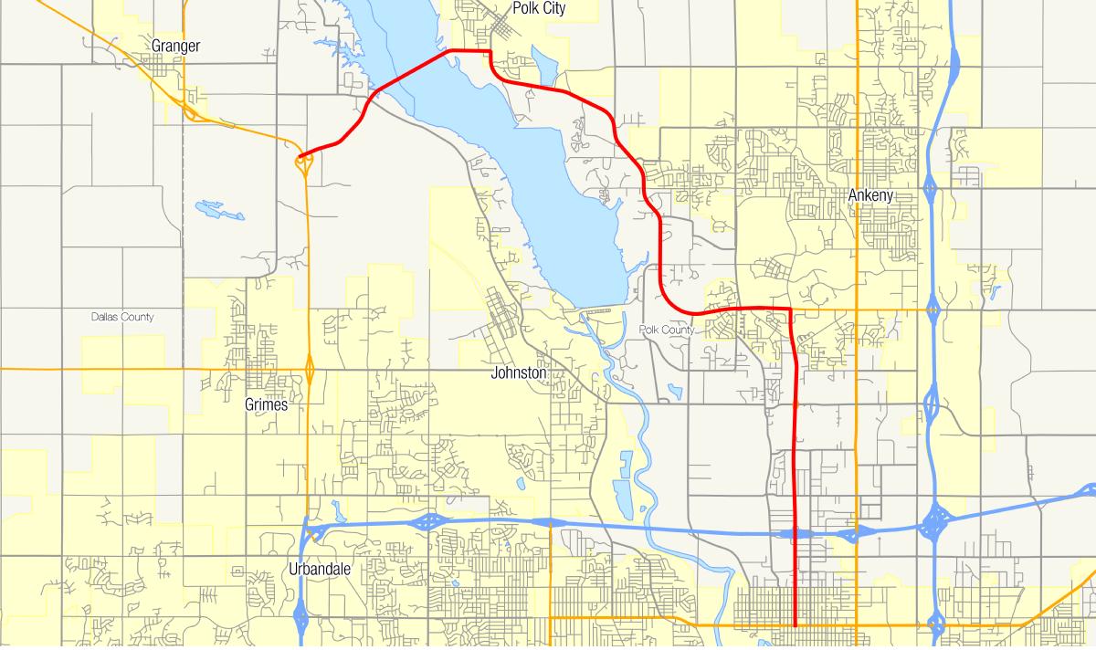 Polk City Iowa Map.Iowa Highway 415 Wikidata