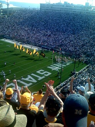 2008 Iowa Hawkeyes football team - Iowa takes the field on October 6, 2007, against Penn State.