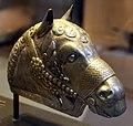 Iran regione di kerman, testa di cavallo in argento, IV sec. 01.JPG
