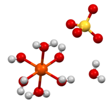Structure of iron(II) sulfate heptahydrate