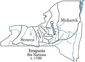 Sei Nazioni irochese c.  1720