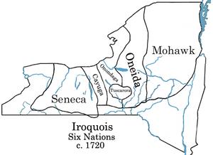 Aboriginal title in New York - Iroquois lands circa 1720