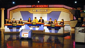 It's Academic - It's Academic being taped in historic Studio A at NBC-owned WRC-TV in Washington, DC on December 12, 2009