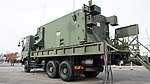 JASDF MIM-104 Patriot PAC-2 J MSQ-132 Engagement Control Station(Mitsubishi Fuso Super Great, 49-0377) left rear view at Kasuga Air Base November 25, 2017.jpg