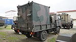 JGSDF Type 73 chugata truck(07-5229) with shelter of JMMQ-M4 Aeronautical Meteorological Observation unit right rear view at Camp Akeno November 4, 2017.jpg