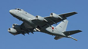 JMSDF P-1(5512) fly over at Tokushima Air Base September 30, 2017 03.jpg