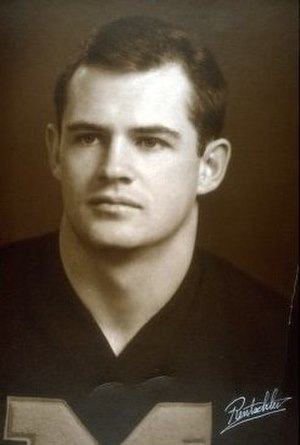 History of Michigan Wolverines football in the Elliott years - End Jack Clancy set a Michigan record with 1,077 receiving yards in 1966.