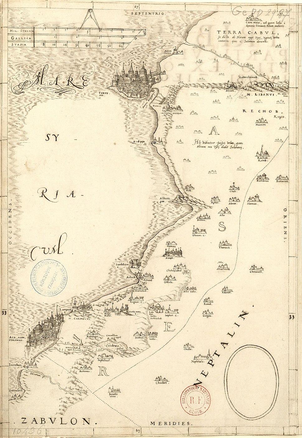 Jacob Ziegler. Tibus Aser particularis descriptio ex observatione Iacobi Ziegleri Landavi. 16th century