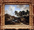 Jacob van ruysdael, paesaggio fluviale con un castello su una collina alta, 1670-75 ca. 01.jpg