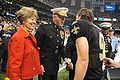 James Conway & Drew Brees at Saints Military Appreciation Game 2009-11-02 1.JPG
