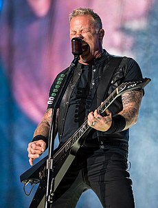 James Hetfield v roku 2017