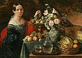 Jan Chrucki. Partret nieviadomaj z kvietkami i fruktami, 1838.jpg