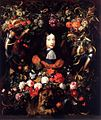 Jan Davidsz. de Heem - Garland of Flowers and Fruit with the Portrait of Prince William III of Orange - WGA11280.jpg
