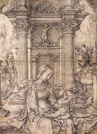 Jan Gossaert - Image: Jan Gossaert Virgin and Child with Saints WGA9773