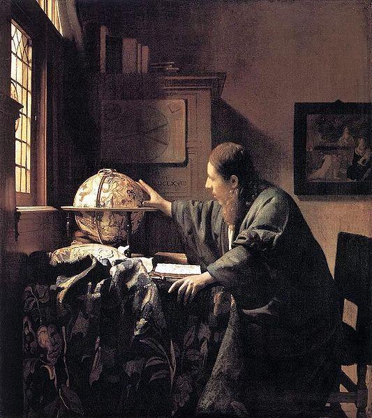 フェルメール「天文学者」